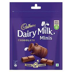 Cadbury Dairy Milk Chocolate Home Treats, 126g - Pack of 4