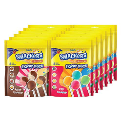 LuvIt Smackers Fruit and Chocolate Flavoured Lollipops | Surprise Toy For Kids | Big Stick Lollipops | Pack of 12 - 96g Each