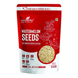 Neuherbs Raw unroasted Watermelon Seeds for eating, Rich in Protein, Potassium, Magnesium & Iron- 400g