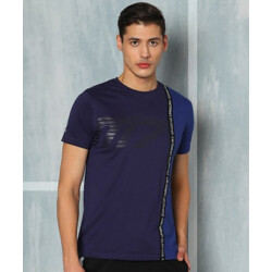 M7 By Metronaut Graphic Print Men Round Neck Dark Blue T-Shirt