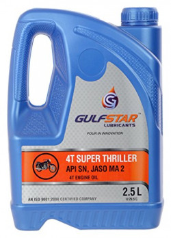 Gulfstar 15W-50 API SN Hybrid Petrol Engine Oil for Motorbikes (2.5 L)