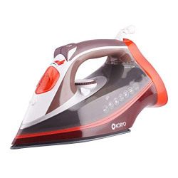 Koryo Steam Iron KSW421XASCR 2000W with Vertical Steaming and Self Cleaning Technology (Red)