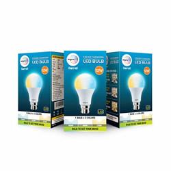 Wipro Garnet 12W Color Changing LED Bulb (Pack of 3)