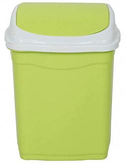 JM SELLER Plastic Swing Lid Small Dustbin, 28 L (Standard Size,) (Green)