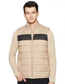 Amazon Brand - Symbol Men's Regular Quilted Jacket (AZ-TR-AW02_Camel(A)_L)
