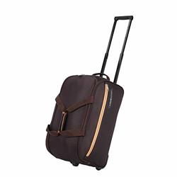 Lavie Sport Polar X Large Size 63 cms Wheel Duffel Bag for Travel | Luggage Bag | Travel Bag (Brown)