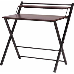 InnoFur Meleti Engineered Wood Study Desk; Folding Desk (Mahogany finish,Brown)