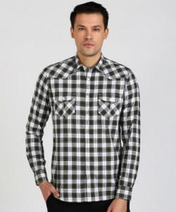 LAWMAN Men Checkered Casual Multicolor Shirt