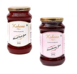 Kohena Agro Jam Combo (Mixed Fruit+Strawberry)(500Gms*2)