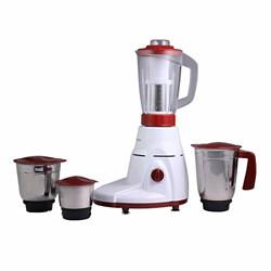 Wonderchef Power Mixer Grinder 780W, 4 Jars (White/Red) with Juicer Jar, 3 Stainless Steel and 1 juicer Jar