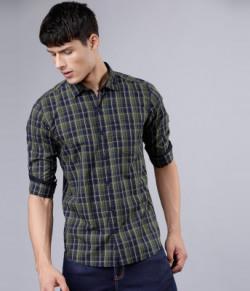 HIGHLANDER Men Checkered Casual Multicolor Shirt