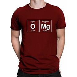 STATUS MANTRA Cotton Unisex Half Sleeve Round Neck Oxygen Printed T-Shirts Tee (Maroon_S)