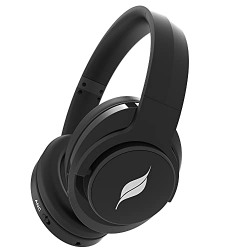 Leaf Hush ANC Bluetooth Wireless Headphones with Active Noise Cancelling Technology, in-Built Mic and 25 Hours Playtime, Super Comfortable Cushions Headset with Better connectivity(Carbon Black)