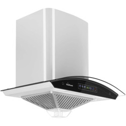 SUNFLAME Regal 60 cm Auto Clean Wall Mounted Chimney(Silver 1100 CMH)