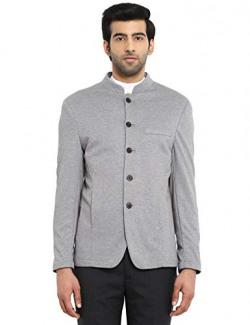 Park Avenue Grey Cotton Blend Silm Fit Blazer