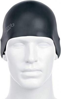 Speedo Unisex-Adult Plain Moulded Silicone Swimcap