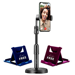 VLSA ( Free 2 Mobile Stand ) Mobile Phone Stand and Holder for Online Classes Table Bed Youtuber Video Recording Tripod Stands Suitable for iPhone and All Types of Smartphones
