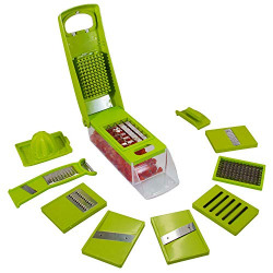 CoolOne 12 in 1 Multi-Purpose Vegetable and Fruit Chopper, Fruit Grater, Slicer Dicer, Chipper, Peeler Kitchen Accessories