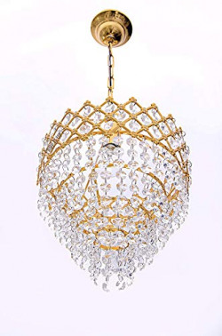 Cardio Lights Up Crystals, Round Shaped Hanging Small k-9 Crystals, LED Chandelier Ceiling Light Pendant